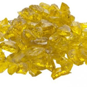 10 Lb. Bag Of Yellow Fire Glass - 0.5 To 0.75 Inch