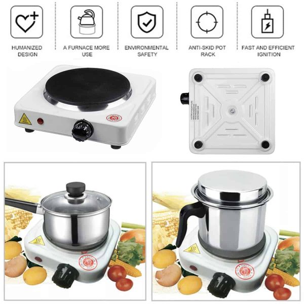 110V Portable 1000W Double Electric Stove Burner HotPlate Heater Cooking Caravan 1