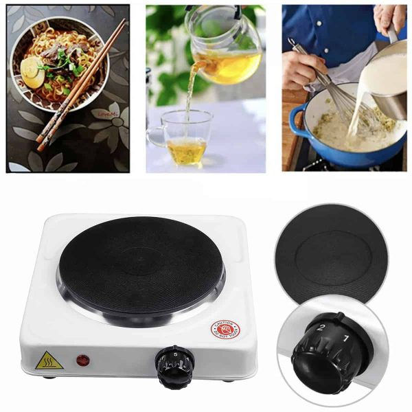 110V Portable 1000W Double Electric Stove Burner HotPlate Heater Cooking Caravan 2