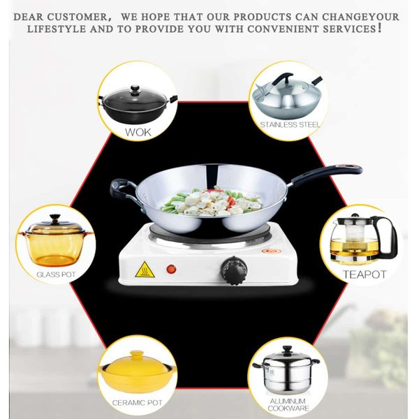110V Portable 1000W Double Electric Stove Burner HotPlate Heater Cooking Caravan 3