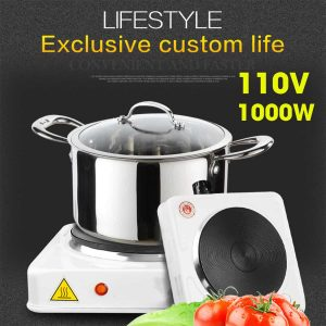 110V Portable 1000W Double Electric Stove Burner HotPlate Heater Cooking Caravan