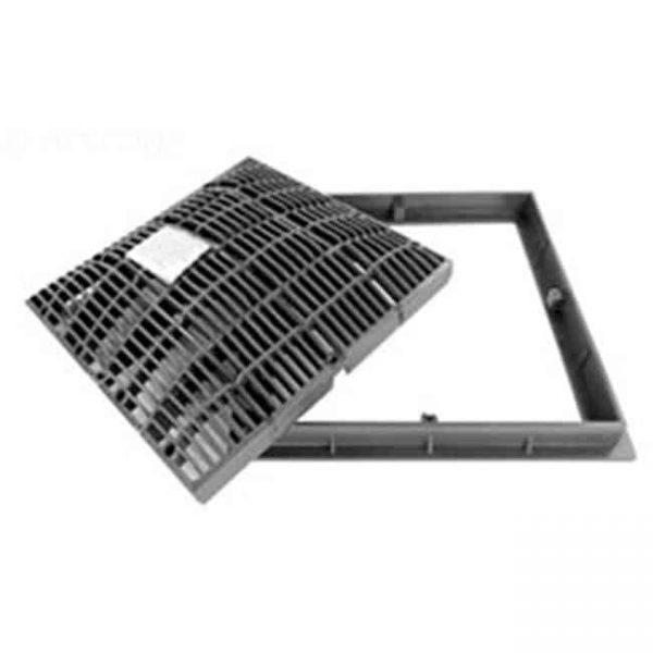12 x 12 in. Frame & Grate - Dark Grey