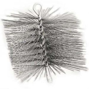 "12"" x 12"" Square Premium Wire Chimney Brush Single Spiral Brush"