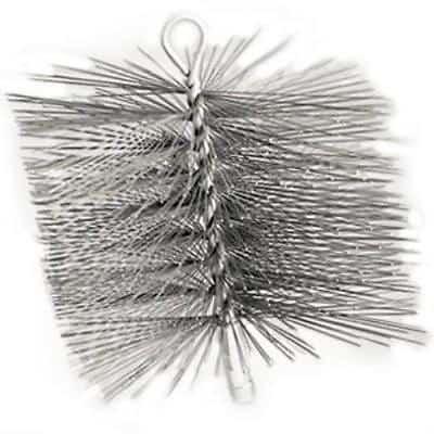 "12"" x 12"" Square Premium Wire Chimney Brush Single Spiral Brush"
