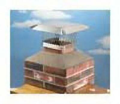 """13"""" x 13"""" Stainless Steel Shelter Chimney Cap 100% 304 Stainless Steel"""