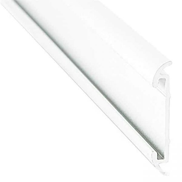 16 ft. Polar White Aluminum Flat Trim with Insert