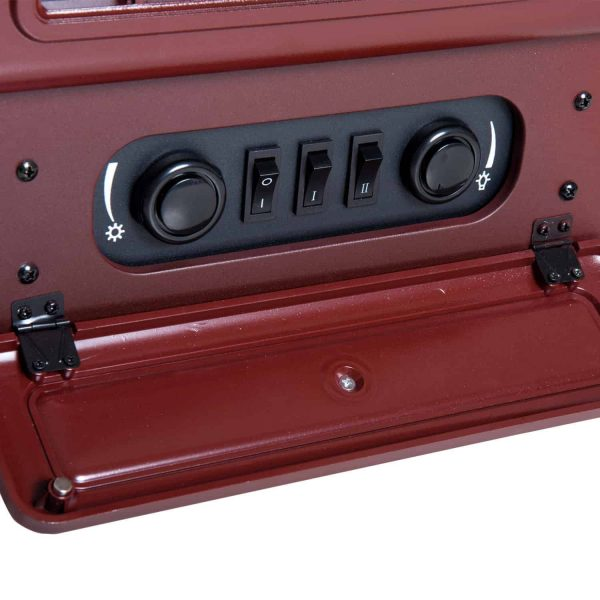 """16"""" 1500W Free Standing Electric Fireplace Wood Burning Portable - Red 3"""