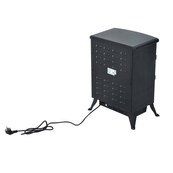 """16"""" 750W /1500W Black Adjustable Electric Fireplace Free Standing Fire Flame Stove Heater 4"""