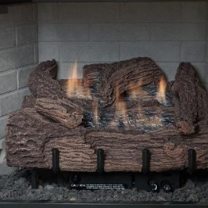 18 Inch Palmetto Oak 5-Piece Log Set & NG Millivolt Control Burner