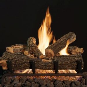 "18"" Arizona See-Thru Weathered Oak 6 Piece Log Set"