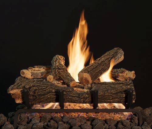 "18"" Arizona See-Thru Weathered Oak 6 Piece Log Set"