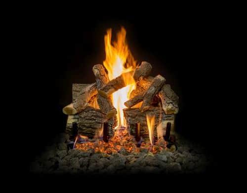 "18"" Arizona Weathered Oak Charred 7 Piece Log Set"
