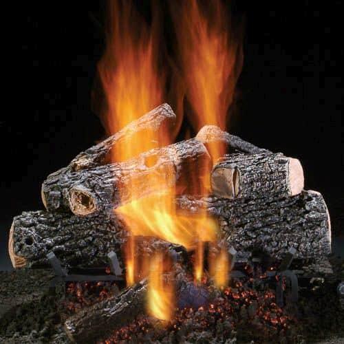"18"" Magnificent Charred Oak Logs w/See Thru Safety Pilot Burner - LP"