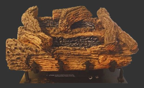 "18"" Manual Everwarm Palmetto Oak Gas Logs and GCUF32C Firebox - LP"