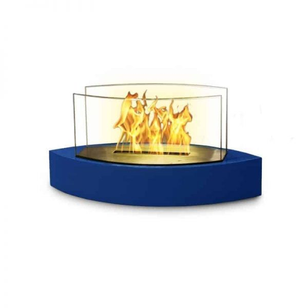 "19"" Blue Indoor Curved Tabletop Anywhere Fireplace"