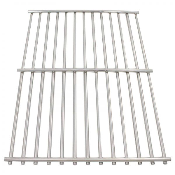 """2-Pack BBQ Grill Cooking Grates Replacement Parts for Weber GENESIS SILVER A LP SWE W/CI GRATES (2005) - Compatible Barbeque Stainless Steel Grid 15"""" 3"""