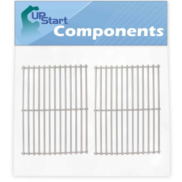 """2-Pack BBQ Grill Cooking Grates Replacement Parts for Weber GENESIS SILVER A LP SWE W/CI GRATES (2005) - Compatible Barbeque Stainless Steel Grid 15"""""""