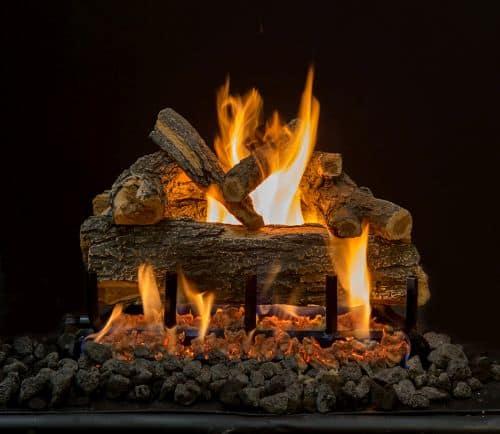 "21"" Arizona Weathered Oak 6 Piece Log Set"