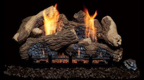 "24"" 7pc Berkley Oak Fiber Ceramic Log Set - LOGS ONLY"