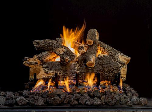 "24"" Arizona See-Thru Weathered Oak 7 Piece Log Set"