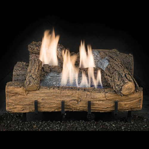 "24"" Weathered Oak Logs w/Millivolt Control Burner - Remote Ready - NG"