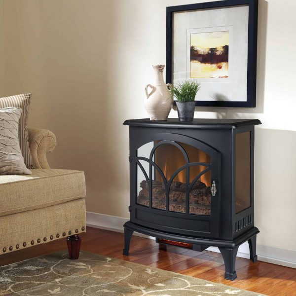 25-in Curved Front Infrared Panoramic Electric Stove in Black 1