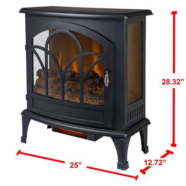 25-in Curved Front Infrared Panoramic Electric Stove in Black 3