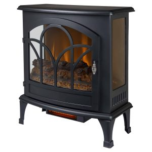 25-in Curved Front Infrared Panoramic Electric Stove in Black