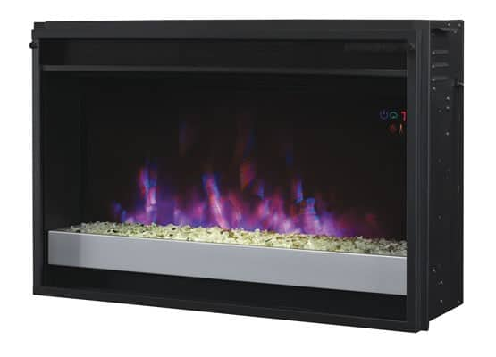 "26"" Contemporary Electric Fireplace Insert with Safer Plug 1"
