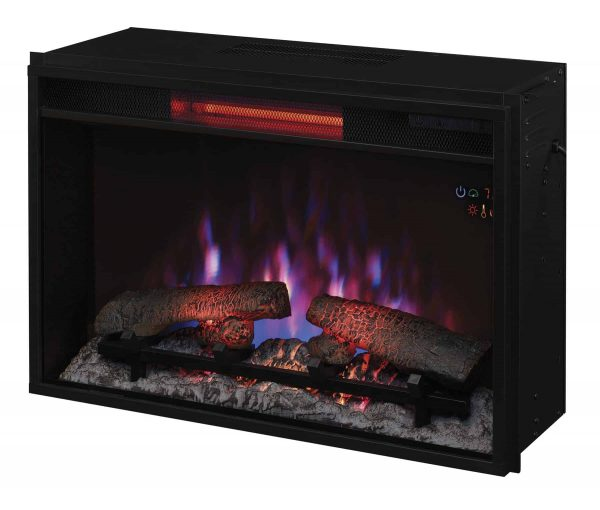 """26"""" Infrared Quartz Electric Fireplace Insert with Safer Plug 1"""