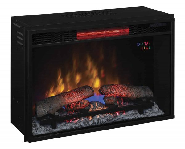 """26"""" Infrared Quartz Electric Fireplace Insert with Safer Plug 2"""