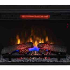 "26"" Infrared Quartz Electric Fireplace Insert with Safer Plug"