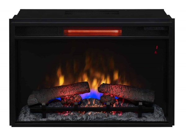 """26"""" Infrared Quartz Electric Fireplace Insert with Safer Plug"""