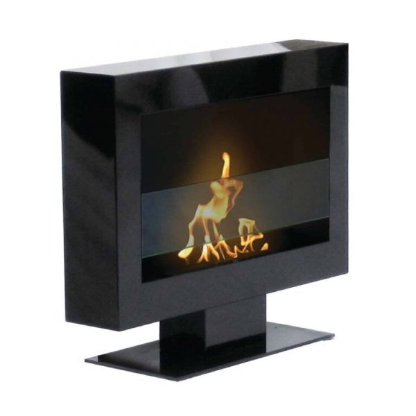 "27"" Indoor Black Anywhere Fireplace With Stand"