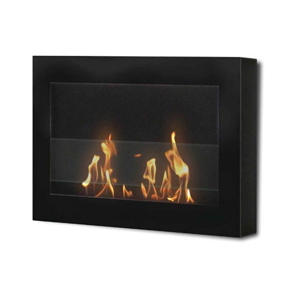 """27"""" Indoor Black Wall Mount Anywhere Fireplace"""
