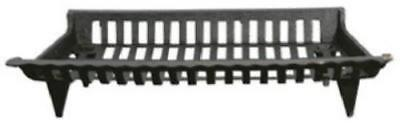 "27"" Black Cast Iron Fireplace Grate 6"" H x 27"" W x 15"" D"