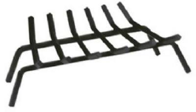 """27"""" Black Wrought Iron Fireplace Grate 5 Bars 8""""H x 27""""W x 13.5""""D"""