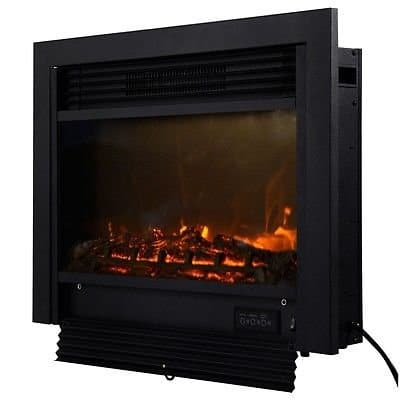 """28.5"""" Fireplace Electric Embedded Insert Heater Glass View Log Flame Remote Home 1"""