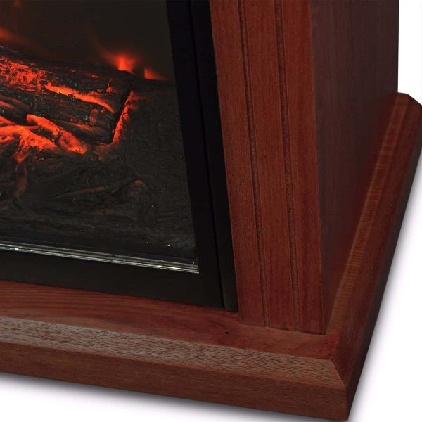 "28"" Electric Fireplace 1500W 3D Embedded Insert Heater with Cabinet, Walnut 2"