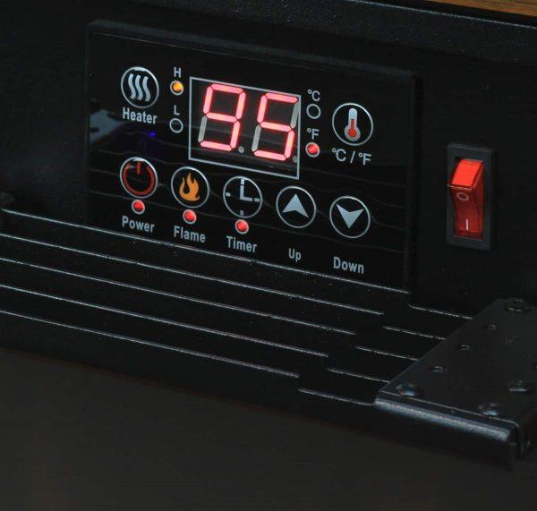 """28"""" Electric Fireplace 1500W 3D Flame Embedded Insert Heater Cabinet, Oak 1"""