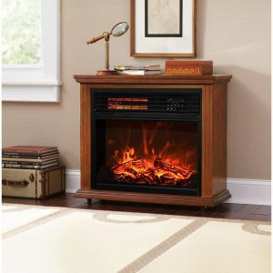 "28"" Electric Fireplace 1500W 3D Flame Embedded Insert Heater Cabinet"