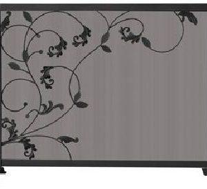 3 Fold Black Screen Flowing Leaf Design 31'' H x 39'' W