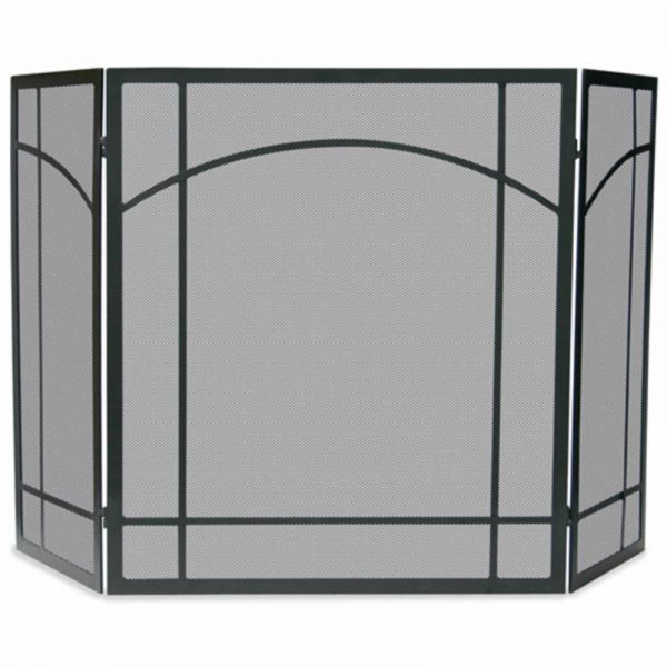 3 Fold Black Wrought Iron Mission Screen