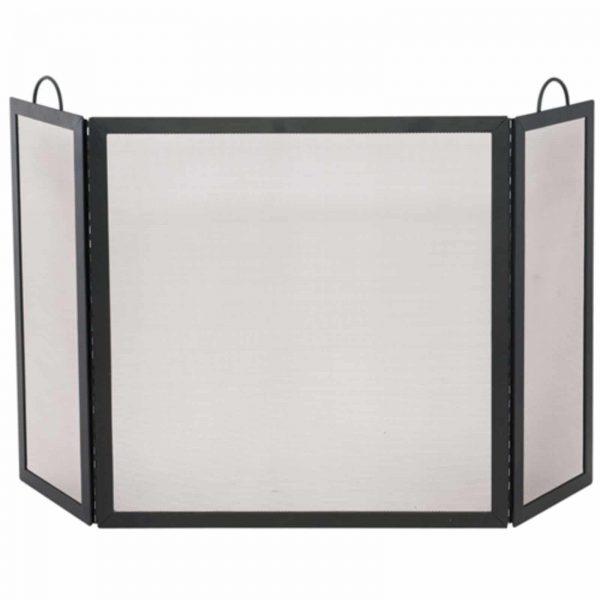 3 Fold Black Wrought Iron Screen