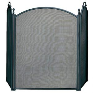 3 Fold Large Diameter Black Screen w - Woven Mesh
