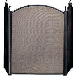 "3 Panel Black Folding Screen 34"" H x 54"" W"