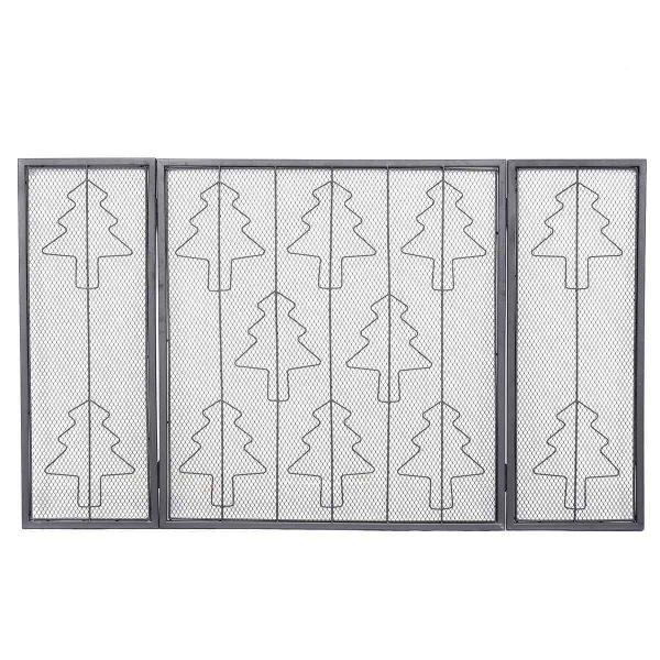 3 Panel Folding Steel Fireplace Screen 1