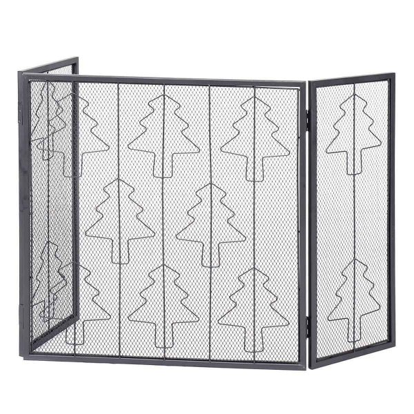 3 Panel Folding Steel Fireplace Screen 3