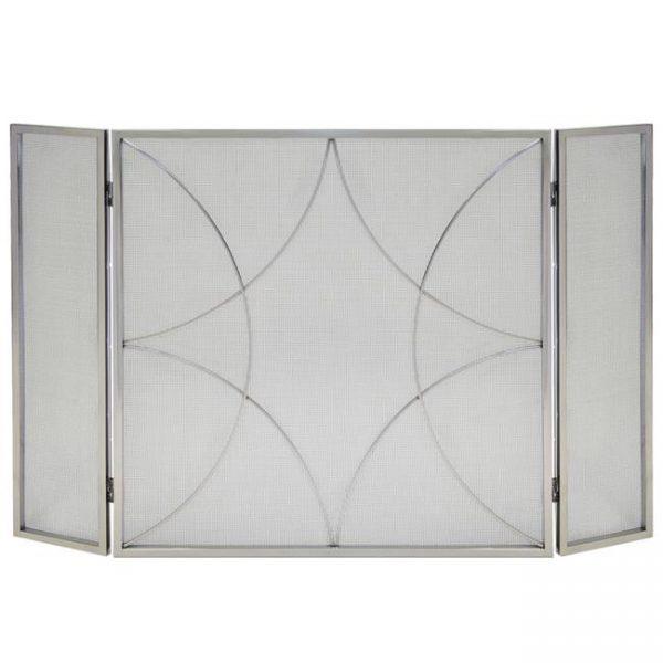 3 Panel Forged Diamond Screen - Polished Nickel