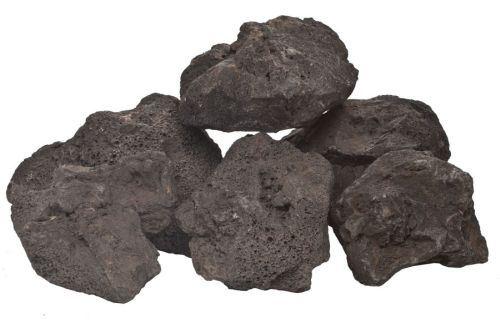 30 LBS Black Lava Rock Box - 6 to 12 inch